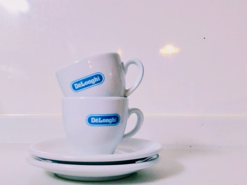 Two cups of Delonghi