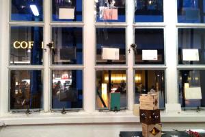 同時代ギャラリーの窓からの風景