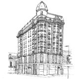 モンテビデオの古いビルディング