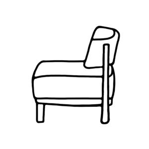 安定した小さな椅子