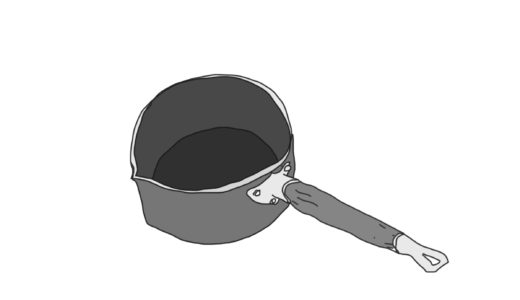 パリの小さい方手鍋