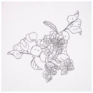 2016年に描いた植物のイラスト。原画