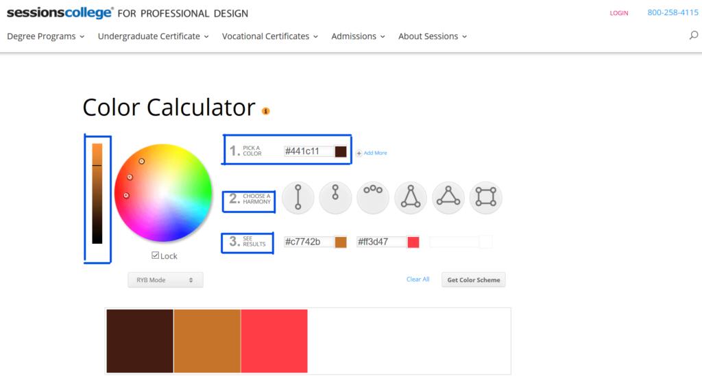 sessioncollegeのcolorcalculatorを使う。