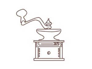 コーヒー豆のグラインダー