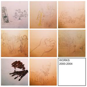 【イラスト】学生時代のペン画 2000-2004