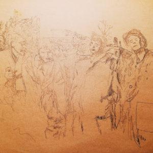 2000年、イラストを描くことを再開した時のスケッチ