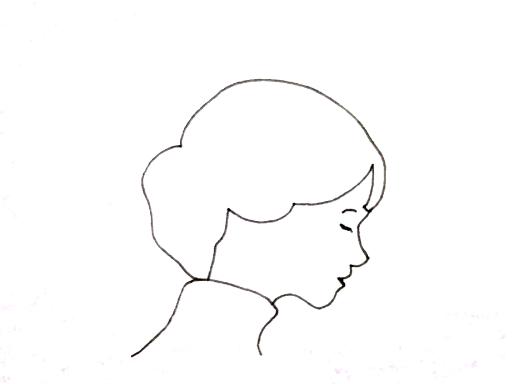 38才のときに描いたイラスト(目を閉じる女)