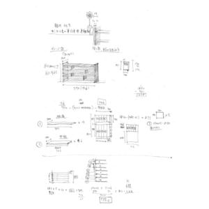 2010年知人に作った本棚の図面